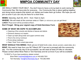 2014 Community Day Flyer