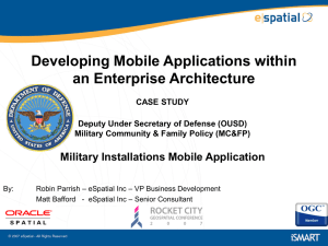 Military Installations Mobile Application