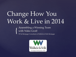 Change How You Work & Live in 2014