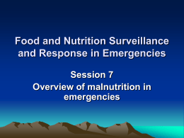 Overview of malnutrition in emergencies