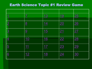 Topic #1 Review Game