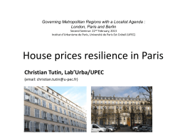 House prices resilience in Paris