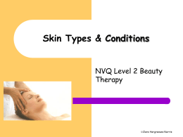 skin types and conditions