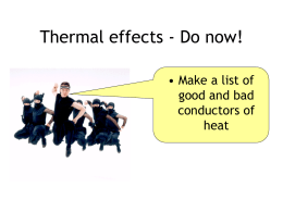 Lesson 9 Thermal Expansion Conduction..