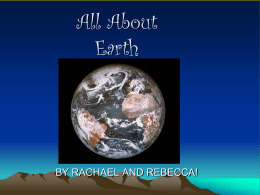 Earth by Rachael and Rebecca