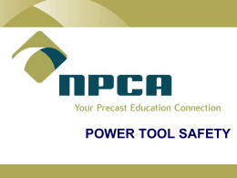 Power Tool Safety Presentation