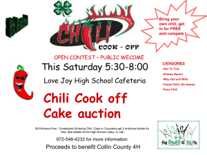Chili Cook Off - Lovejoy High School