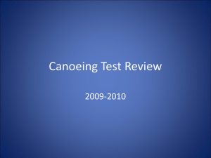 Canoeing Test Review
