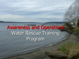 Welcome to the Zone 1 Water Rescue Awareness