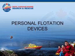 02.1 Personal Flotation Devices - Canadian Coast Guard Auxiliary