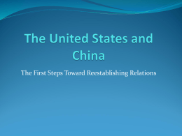 The United States and China