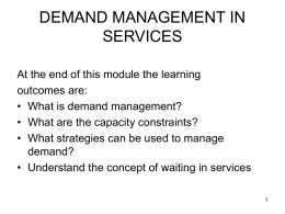 demand management in services