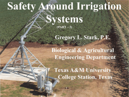 Irrigation System Safety Part 3