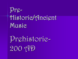 Pre-Historic/Ancient Music