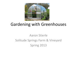 Gardening with Greenhouses - Solitude Springs Farm & Vineyard