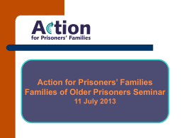 Barriers to communication - Action for Prisoners` Families