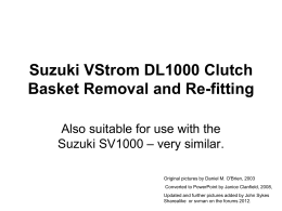 Clutch Basket Replacement PowerPoint Presentation for a 2002