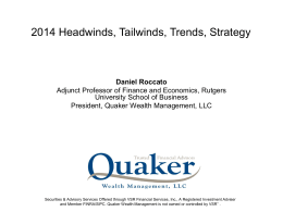 2014 Headwinds, Tailwinds, Trends, Strategy