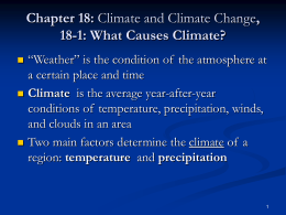 Chapter 18: Climate and Climate Change, 18