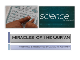 Miracles of Glorious Qur*an