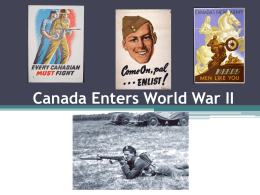 Canada Enters World War II