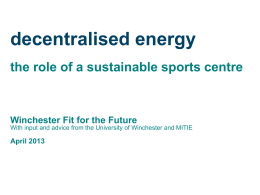 Passive sports centre - winchester fit for the future