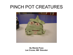 Pinch Pot Creatures PowerPoint