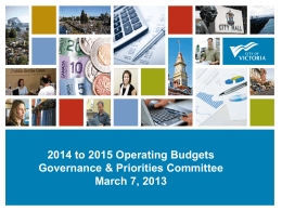2014 to 2015 Operating Budgets [PPT - 1.8