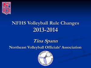 Volleyball Rule Changes