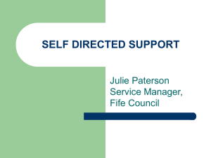 Self Directed Support in Fife