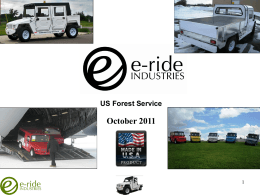 The e-ride Solution - USDA Forest Service