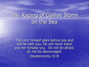 The Raging Storm on the Sea of Galilee