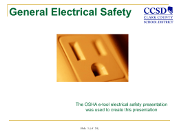 View Electrical Safety Training