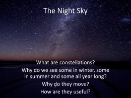The Night Sky - Mr. Shaffer at JHS