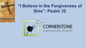 Sermon PowerPoint - Cornerstone Community Church