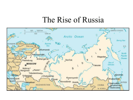 The Emergence of Russia