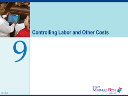 Steps to Controlling Labor Costs