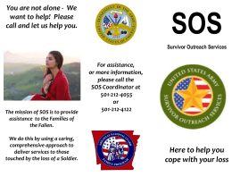Survivor Outreach - Arkansas National Guard
