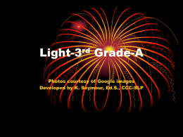 A: Third Grade Science: Light