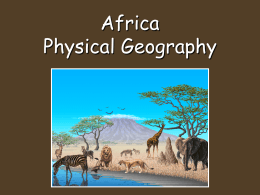 Africa Physical Geography notes