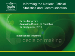 Dr Siu-Ming Tam - National Statistical Service