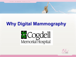 Digital Mammography - Cogdell Memorial Hospital