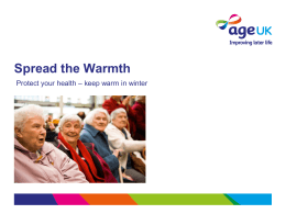 for Spread the Warmth campaign
