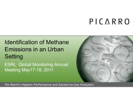 Identification of Methane Emissions in an Urban Setting