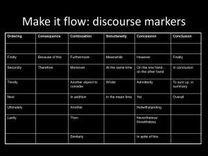 Make it flow: discourse markers