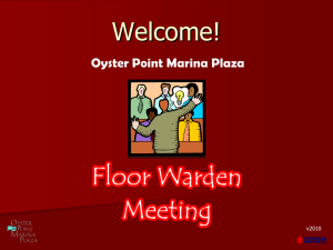Floor Warden Training Presentation