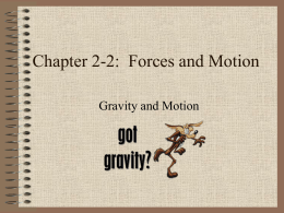 Chapter 6: Forces and Motion - Red Hook Central School District