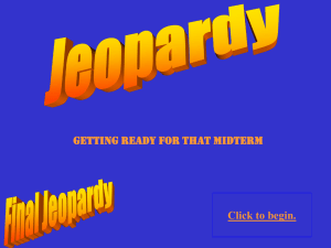 Jeopardy Review mid