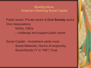 Bowling Alone: America`s Declining Social Capital
