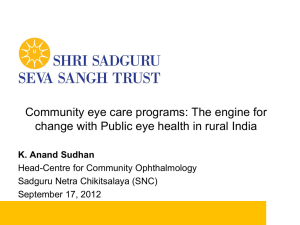 Anand Sudhan_Community eye care programs